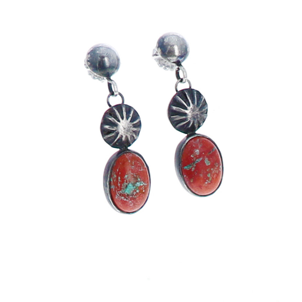 Red CUPRITE Earrings Sterling Arizona Southwest