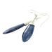 KYANITE EARRINGS STERLING SILVER TEARDROP FLORAL
