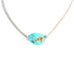 TURQUOISE LARIAT NECKLACE Sterling Leather Dry Creek and Tonopah Turquoise