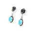 SLEEPING BEAUTY TURQUOISE Earrings Flower Posts Oval Stone