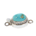Blue Carico Lake Turquoise Sterling Clasp Etched