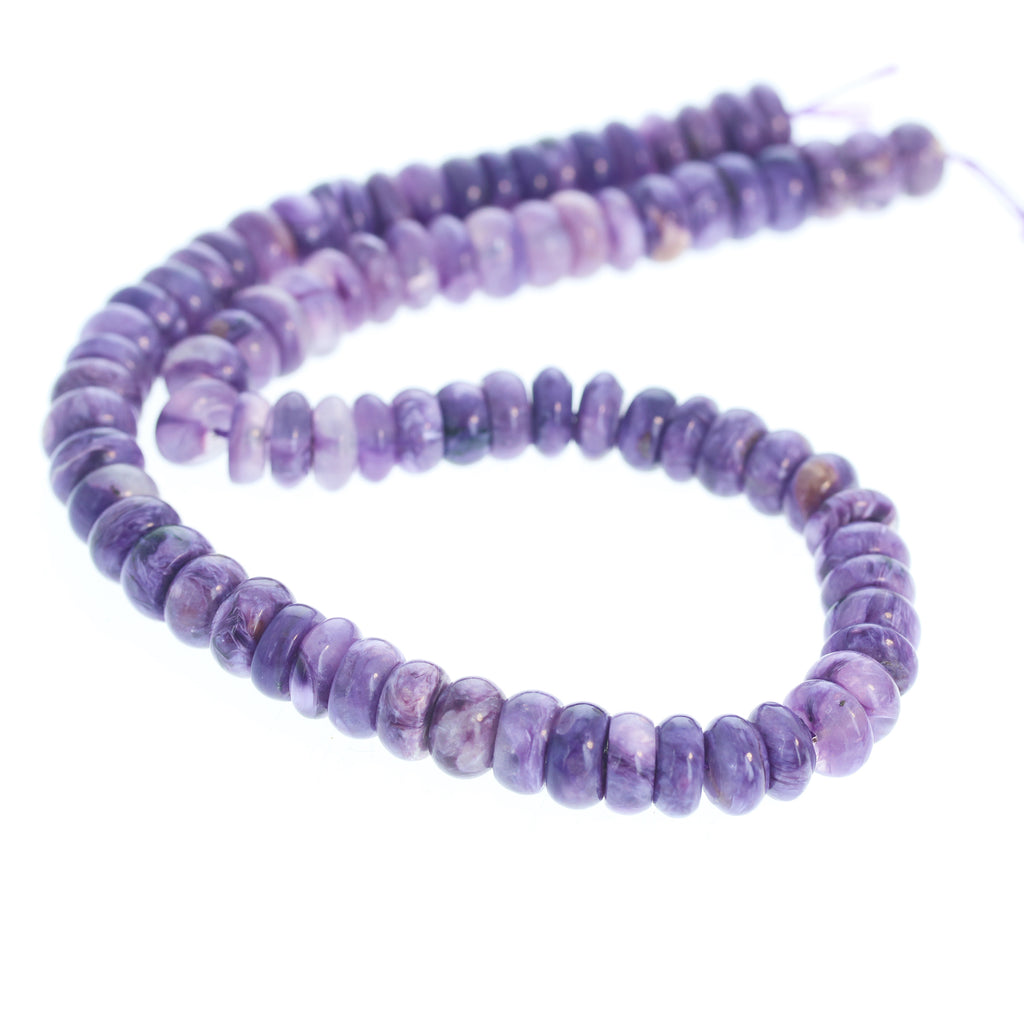 AAA CHAROITE BEADS Buttons 10mm 16""
