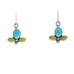 SLEEPING BEAUTY Turquoise Earrings with Gaspeite Blue Green