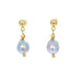 18K GOLD GRAY PEARL EARRINGS