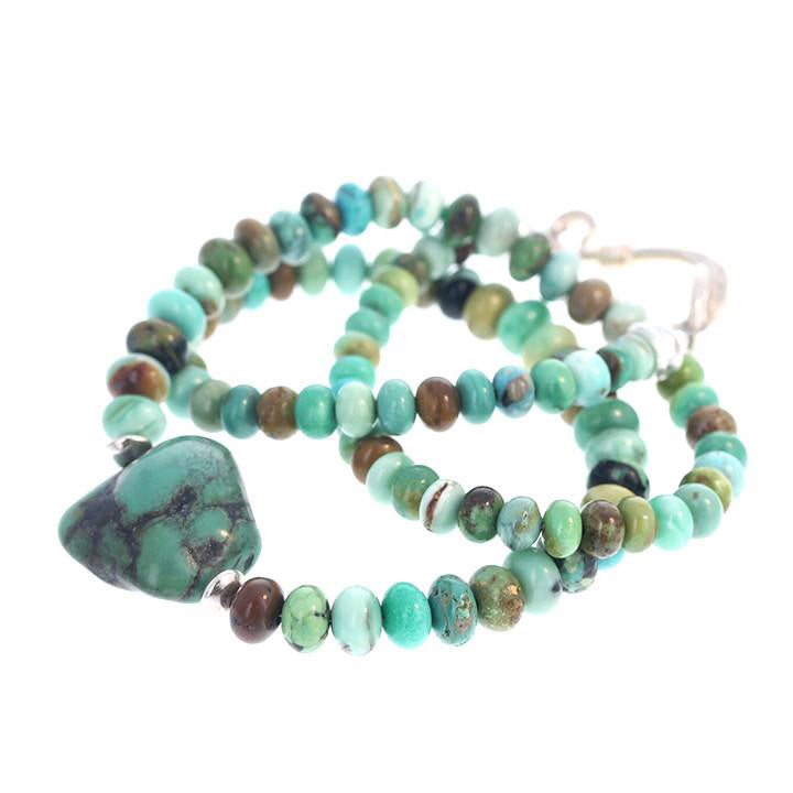 Stenich, Orville Jack Turquoise Necklace with Antique Tibetan Turquoise