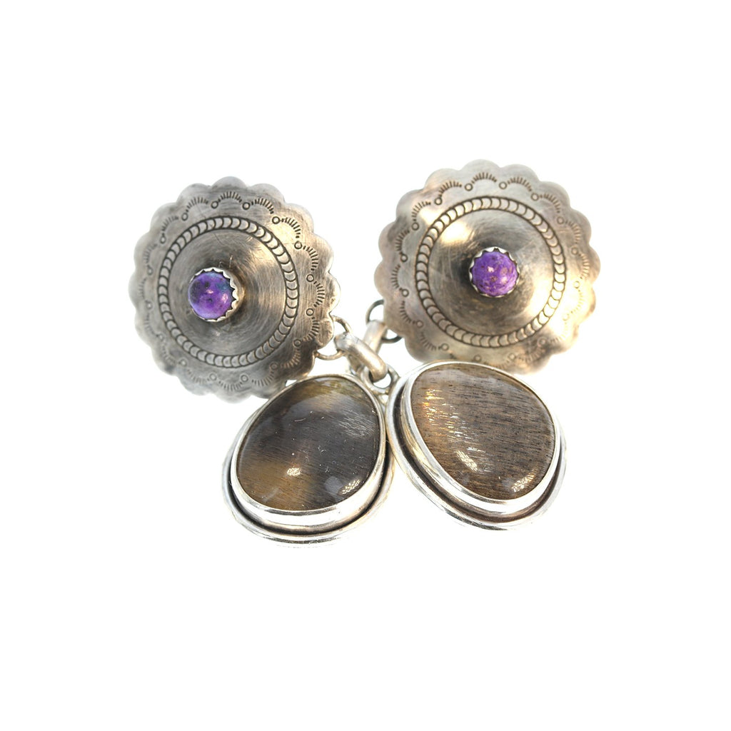 SUGILITE and MOONSTONE Earrings Sterling Southwest