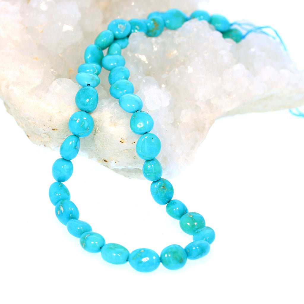 SLEEPING BEAUTY TURQUOISE Beads Ovals Coin Shaped 11-12mm