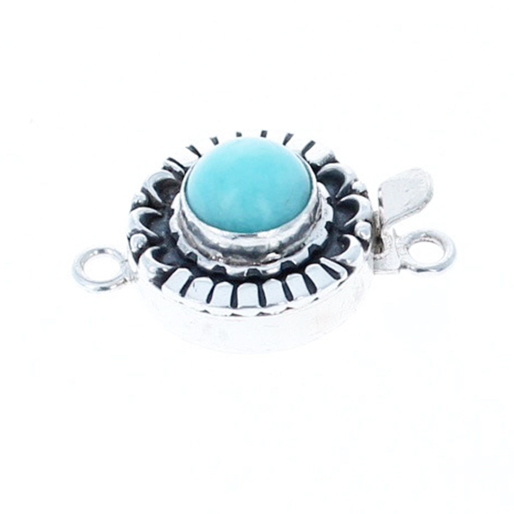 AMAZONITE CLASP Moon Petal Design 10mm Round