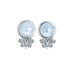 Mabe Pearl Earrings Scroll Design Post Style 13mm