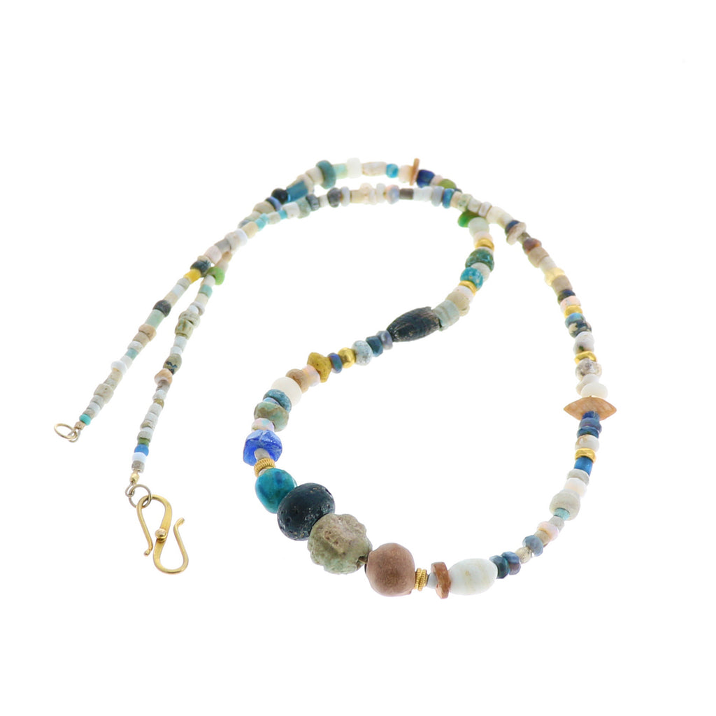 ANCIENT MALI Dig Beads Necklace 18K Gold #2