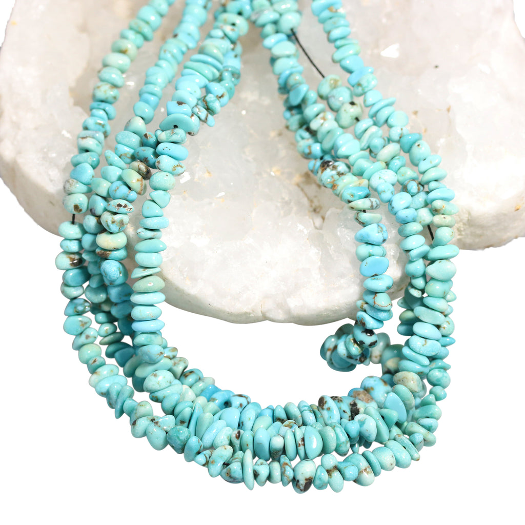 LONE MOUNTAIN TURQUOISE Beads Blue 5-7mm 18""