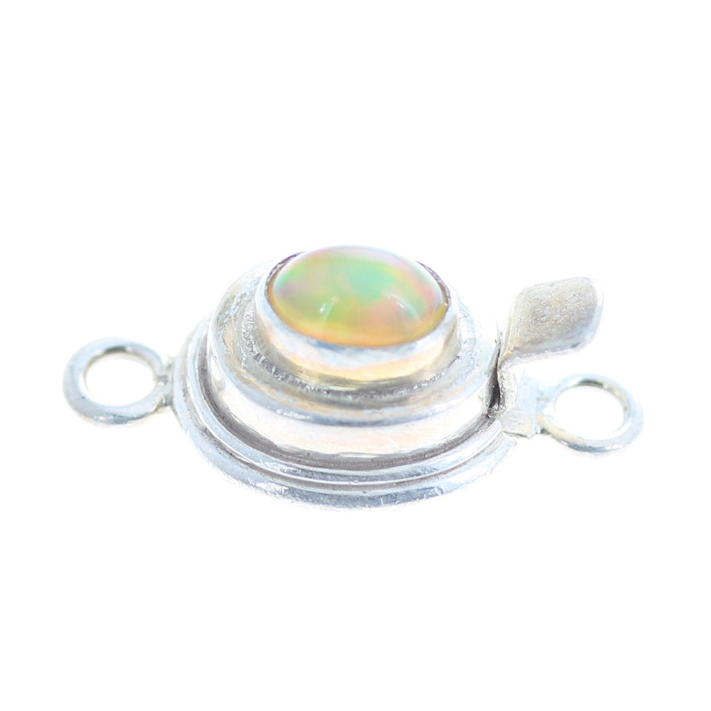 ETHIOPIAN OPAL CLASP Sterling Oval 6x8mm