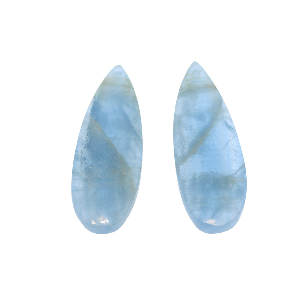 BLUE CALCITE QUARTZ TEARDROP Pair Earring Set Components