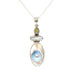 MABE PEARL STERLING PENDANT PEARL OPAL NECKLACE 16""