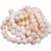 CONCH SHELL BEADS Round Shape 10mm Peach