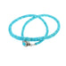 SLEEPING BEAUTY TURQUOISE NECKLACE HESHI BEADS 17""