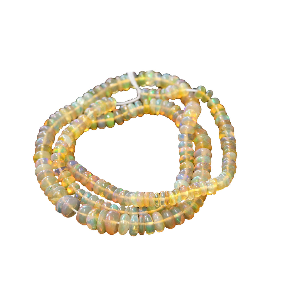 AAA ETHIOPIAN OPAL Rondelle Beads Graduated 4.5 to 7mm Golden 15""