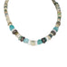 ANCIENT MALI Dig Beads Necklace Sterling and Apatite