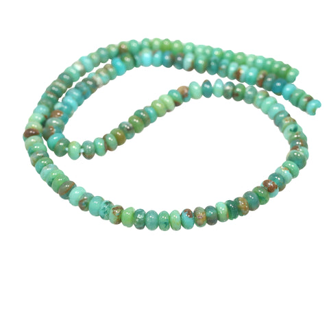 GEM SILICA BEADS Rondelles 6mm Teal Blue Green