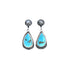 Feathered KINGMAN TURQUOISE Earrings Sky Blue