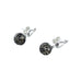 PAVE DIAMOND EARRINGS Sterling Silver 9mm