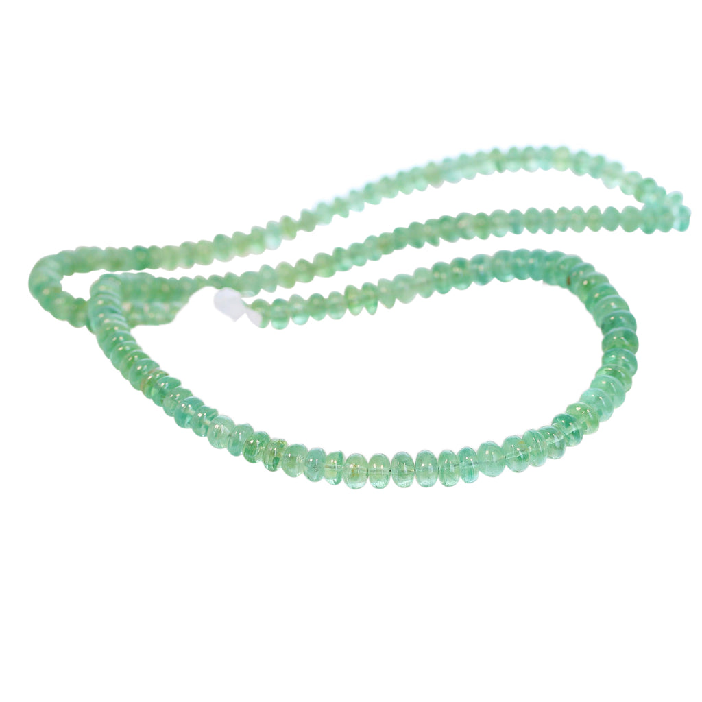 AAA KYANITE BEADS Green Rondelles 4.5-5.7mm