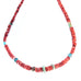 American Turquoise and Red Spiny Oyster Necklace Southwest 24""