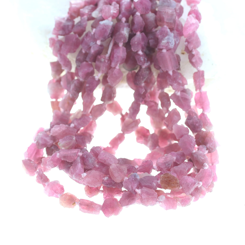PINK TOURMALINE BEADS Uncut Nugget Rough
