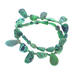 FAUSTITE LIME GREEN CHINESE TURQUOISE BEADS MIXED SHAPE