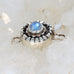 BLUE MOONSTONE CLASP Sterling Moon Petal Design 7mm