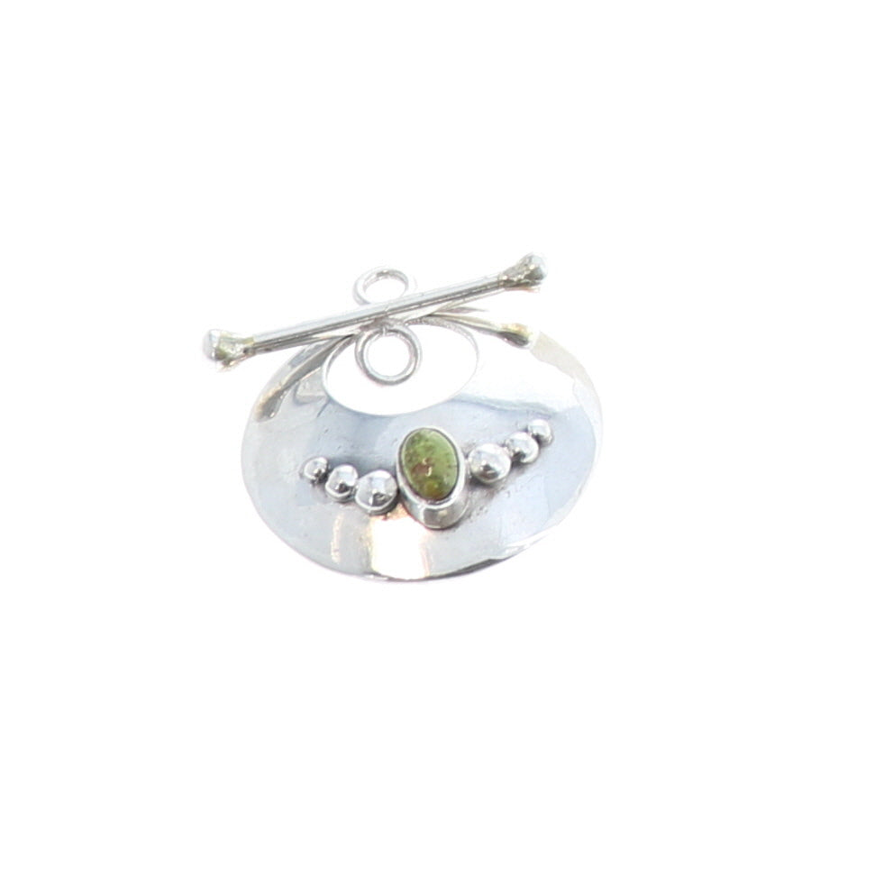 GASPEITE Toggle Clasp Sterling Large Round
