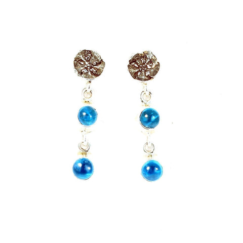 CERULEAN BLUE APATITE Earrings Ethereal Deep Blue