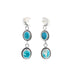 GEM SILICA Earrings Sterling Silver Moons