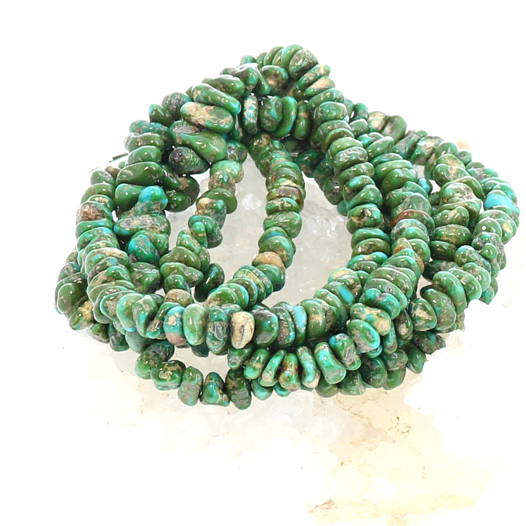 Sonoran Gold Turquoise Beads Golden Green 6 to 12x6mm 16""