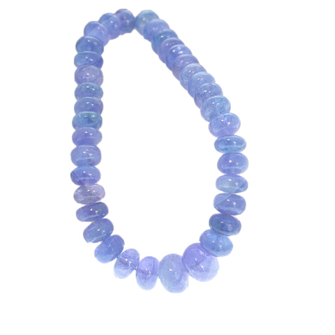 TANZANITE BEADS GRADUATED RONDELLE 7-11mm