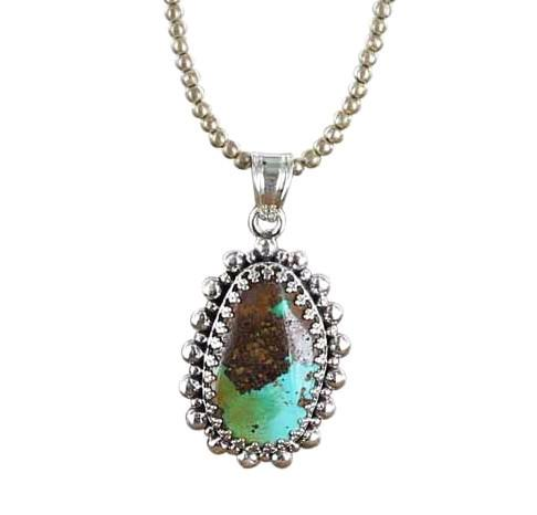 ARMENIAN TURQUOISE PENDANT Green and Sky Blue Sterling