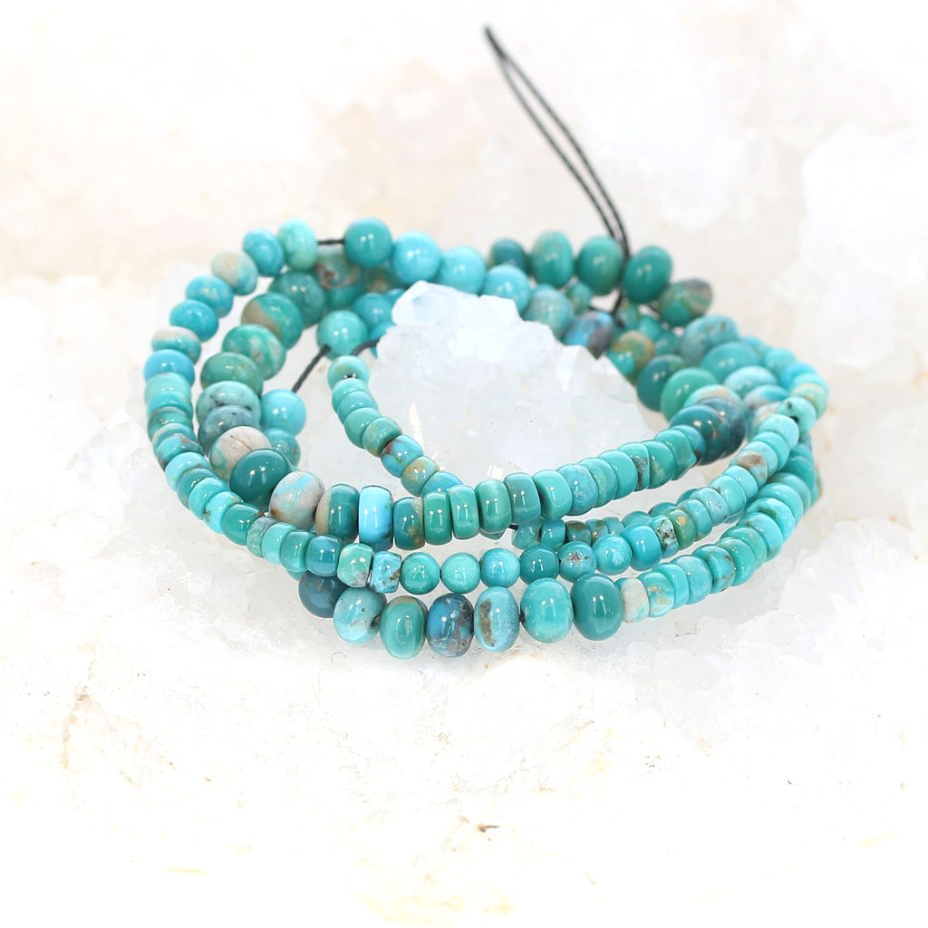 McGINNIS TURQUOISE BEADS Blue and Teal Mixed 5-7mm Nevada