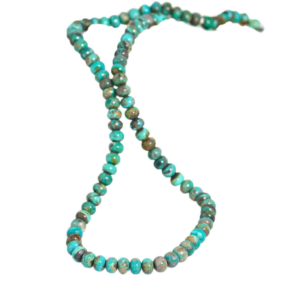 CARICO LAKE TURQUOISE Beads 6mm Rondelle 18""