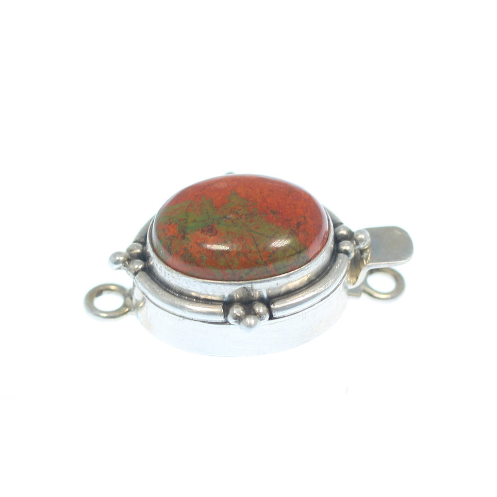 RED CUPRITE CLASP Southwest Dot Design 13x16mm