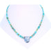 White Buffalo and McGinnis Turquoise Necklace Southwest Elegance