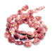 "Light Rose Red THULITE BEADS {Zoisite} Free Form Ovals 8"" Large 12x15-16mm"