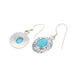 LARIMAR EARRINGS OVAL SHAPED ETCHED STERLING