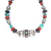 TIBETAN STERLING BALTIC AMBER TURQUOISE NECKLACE