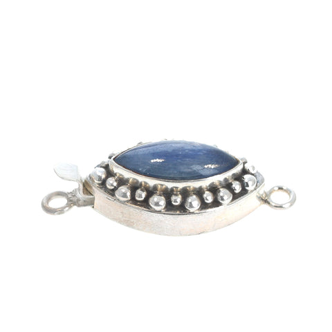 Kyanite Clasp Sterling Marquis Shape Blue
