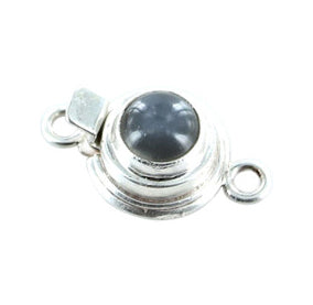 SILVER MOONSTONE CLASP Sterling Round 8mm