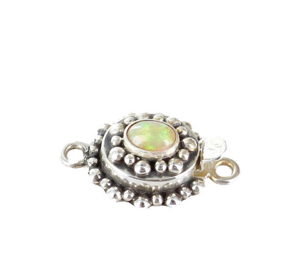 Ethiopian Welo Opal Clasp Sterling Light Color - New World Gems