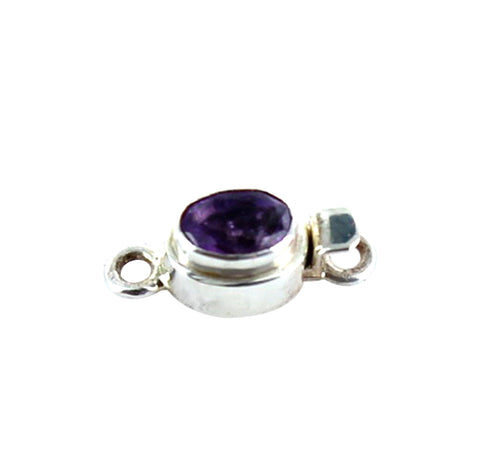 Amethyst Faceted Sterling Clasp Small - New World Gems