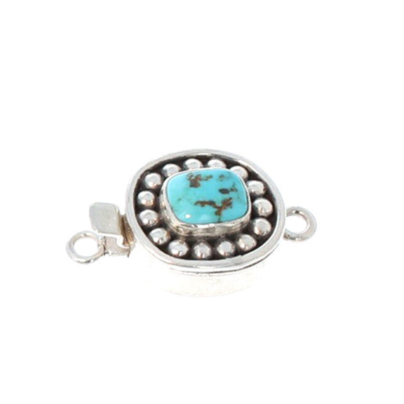 CARICO LAKE TURQUOISE CLASP DOT DESIGN #11