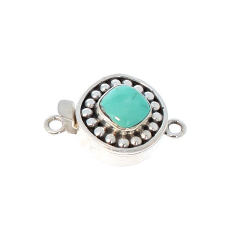 CARICO LAKE TURQUOISE CLASP DOT DESIGN #12
