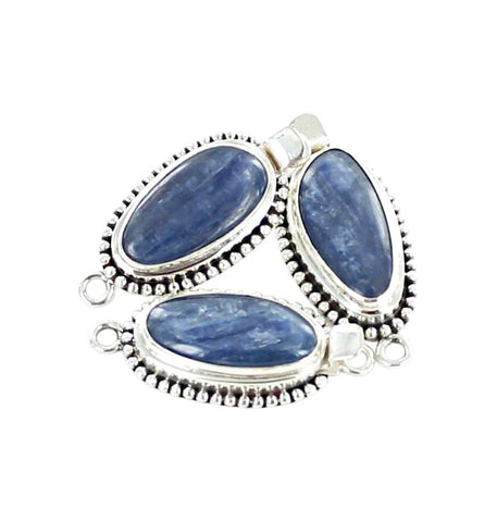 Kyanite Clasp Sterling Free Form Shape Dot Design